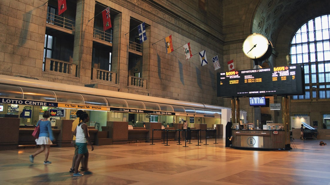 Reportage photo sur l'Union station de Toronto